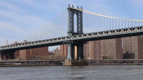 Manhattan Bridge, New York City Footage