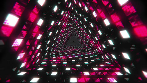 VJ Loops Color Triangular Tunnels 2