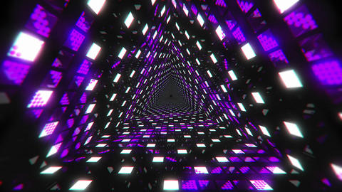 VJ Loops Color Triangular Tunnels 2 1