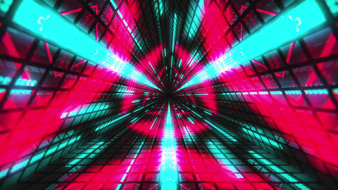 VJ Loops Colorful Triangular Tunnels 0