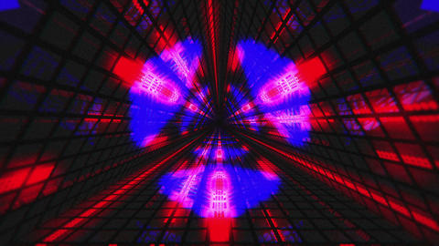 VJ Loops Colorful Triangular Tunnels 1