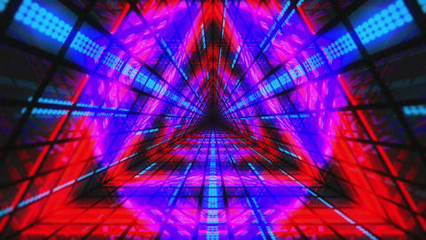 VJ Loops Colorful Triangular Tunnels 2