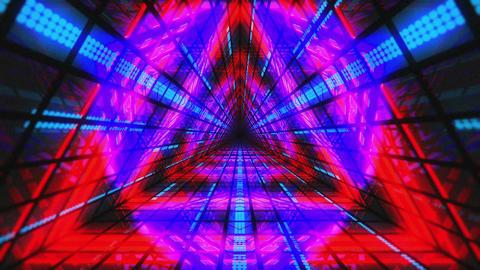 VJ Loops Colorful Triangular Tunnels 2