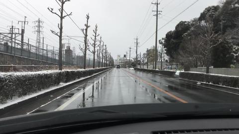 4k winter road in Japan ビデオ