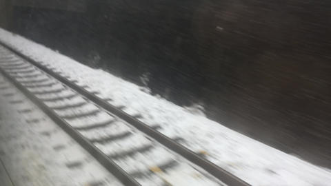 Snow from the train ビデオ