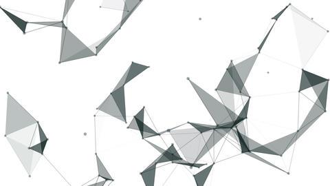 White plexus background Stock Video Footage