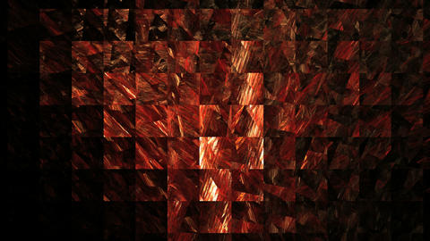 red lattice on black background Animation
