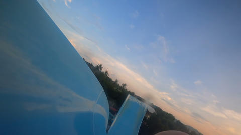 Riding in waterpark Footage