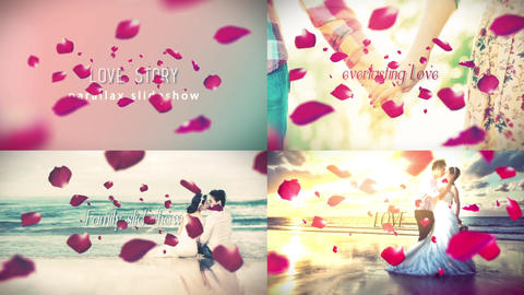 Parallax Love Story After Effects Template