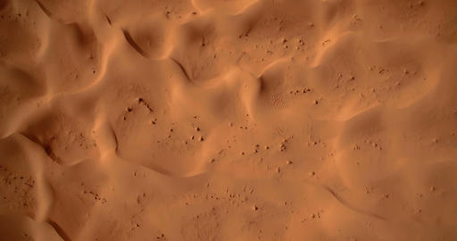 Aerial, Flying Over Sahara Dunes, Erg Chegaga, Morocco Footage