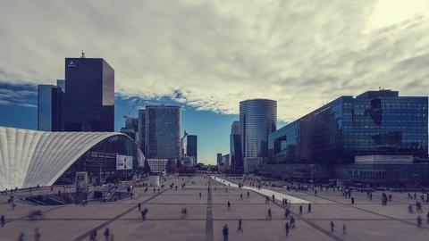 Paris, France - Timelapse - The Financial District called la defense Footage