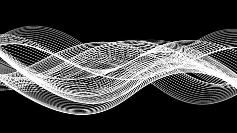 4 Abstract Looped Backgrounds | Wavy Lines | Full HD
