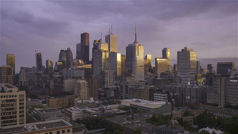 Toronto, Canada, Video - The Downtown at Sunset Footage