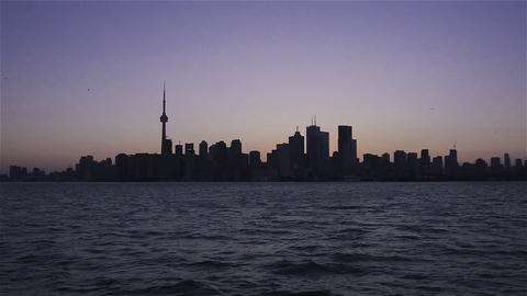 Toronto, Canada, Video - The Skyline at Sunset Footage