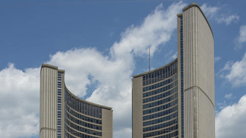 Toronto, Canada - Hyperlapse - City Hall ビデオ