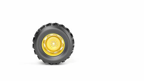 Tractor wheel Animation