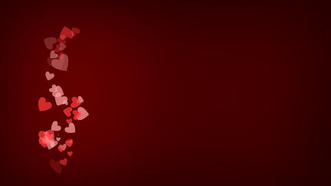 St Valentine's Day Red Background For Love Cards Or Commercials Animation