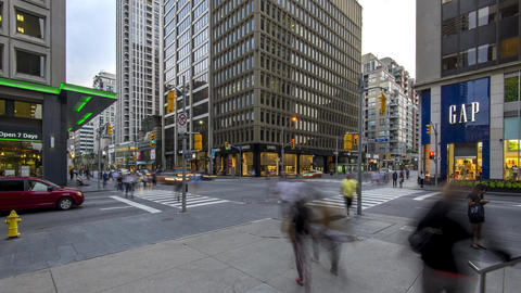 Toronto, Canada - Timelapse - Bay and Bloor Street Live Action