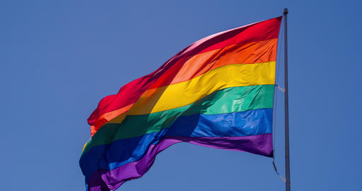 Rainbow Gay Pride Flag Slow Motion Live Action