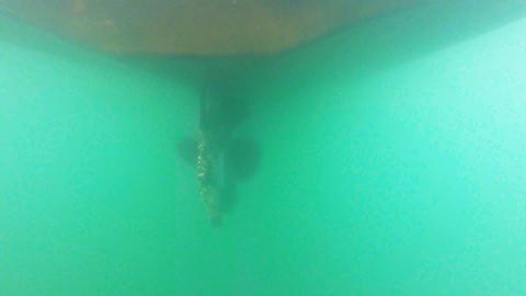 boat propeller spinning Footage