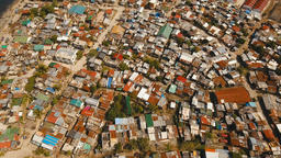 Aerial view slums of Manila, the poor district. Philippines, Manila Footage