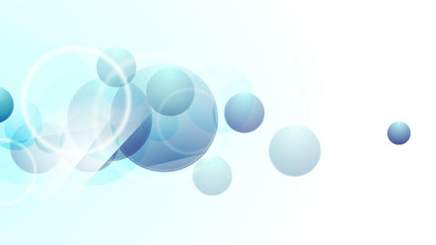 Bright blue abstract circles video animation Animation