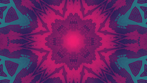 decorative kaleidoscope vj loop background Animation