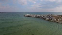 Aerial flight over Constanta coastline, Romania Footage