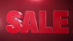 """"""" 5% Sale """" Animation Promotions In Red Text Seamlessly…, Stock Animation"""
