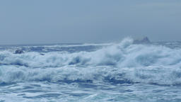 Wild Sea Waves Capo Testa Sardinia Italy Footage