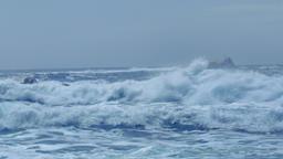 Wild Sea Waves Capo Testa Sardinia Italy Footage