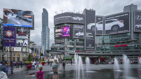 Toronto, Canada - Timelapse - Dundas Square Footage
