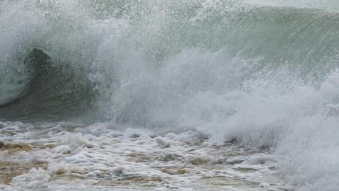 Splashing turquoise ocean waves Footage