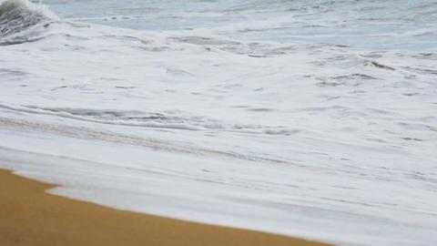 Ocean waves splashing on shore Footage