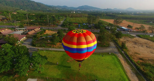you can fly away in the sky with hot air balloon Footage