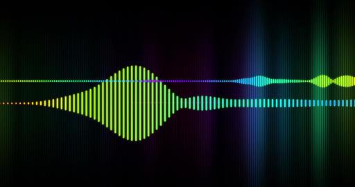 Spectrum of electronic digital audio Animation