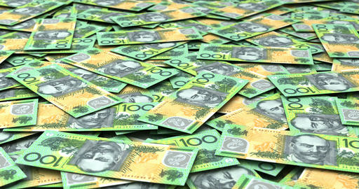 Stack of Australian Dollars Animation