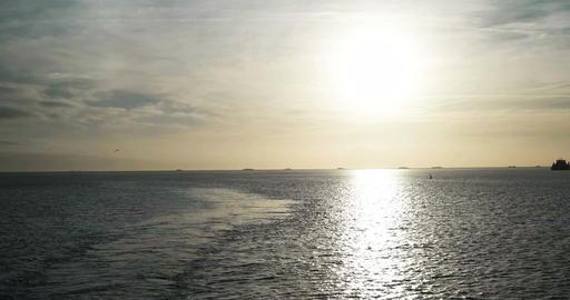 North sea near the island Foehr in Germany Footage