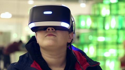 Individual 3D display virtual reality Footage
