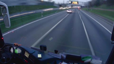 Timelapse with cars going the speed on a highway after dark 18 Footage
