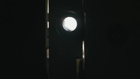 Flickering light film projector 07p Footage