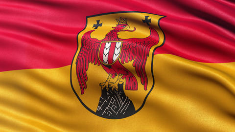 Flag of Burgenland - seamless loop Animation