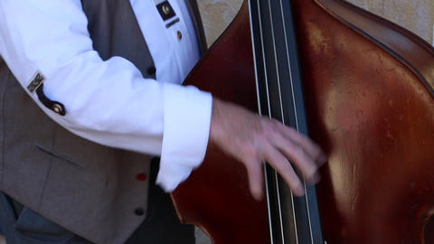 Man playing Violoncello instrument Live Action