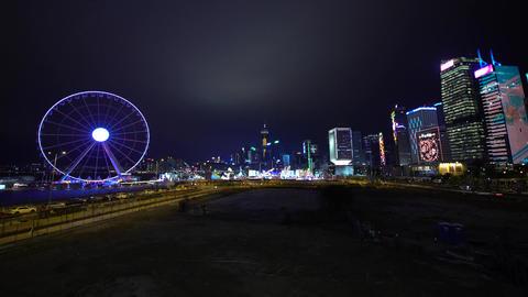 Amusement park at Central District, Hong Kong Footage