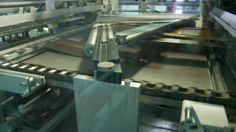 Large offset printing press working at high speed Footage