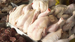 Chicken on the market Footage