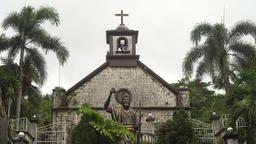 Catholic Church with palm trees Footage