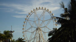 Ferris wheel at an amusement park Footage