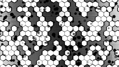 Scrolling Monochrome Hexagon Background Animation - Loop Animation