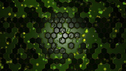 Scrolling Hexagon Background Animation - Loop Green Animation